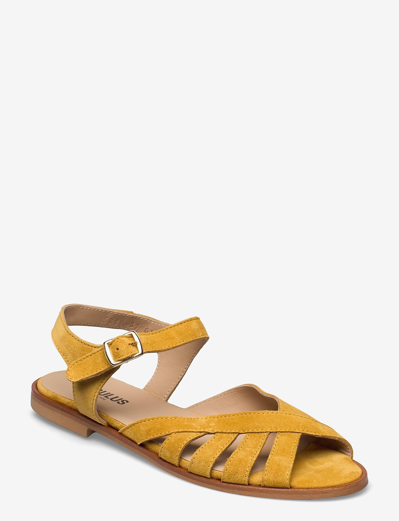 ANGULUS - Sandals - flat - open toe - op - flache sandalen - 2201 yellow - 0
