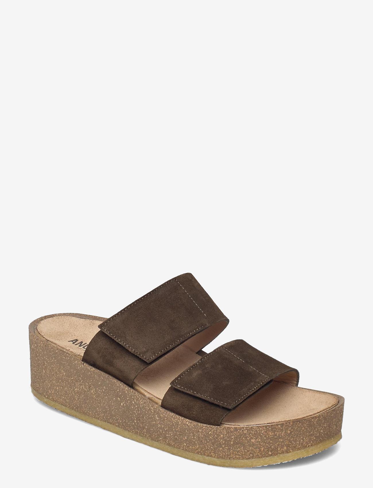 ANGULUS - Sandals - flat - open toe - op - sandalen mit absatz - 2214 dark olive - 0