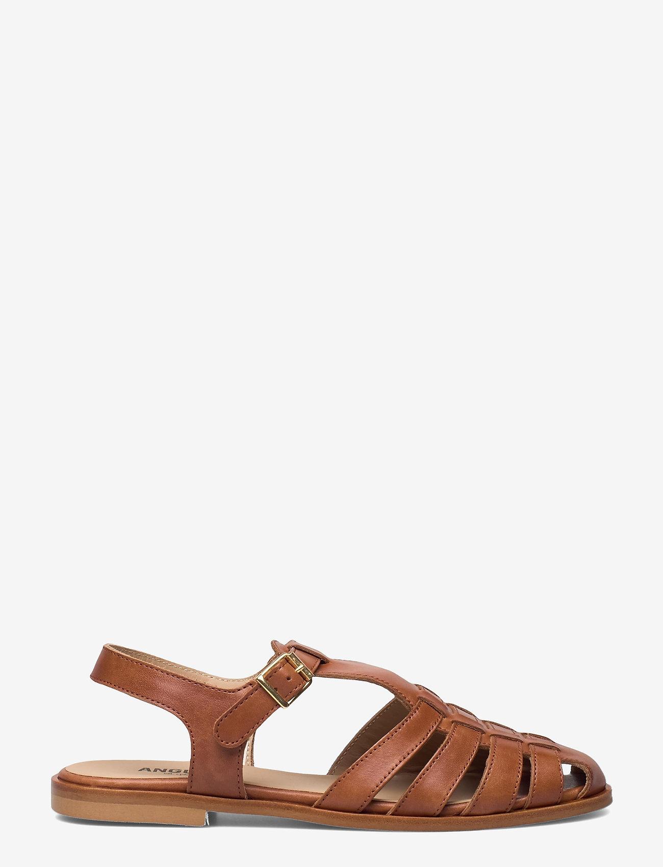 ANGULUS - Sandals - flat - closed toe - op - flache sandalen - 1789 tan - 1