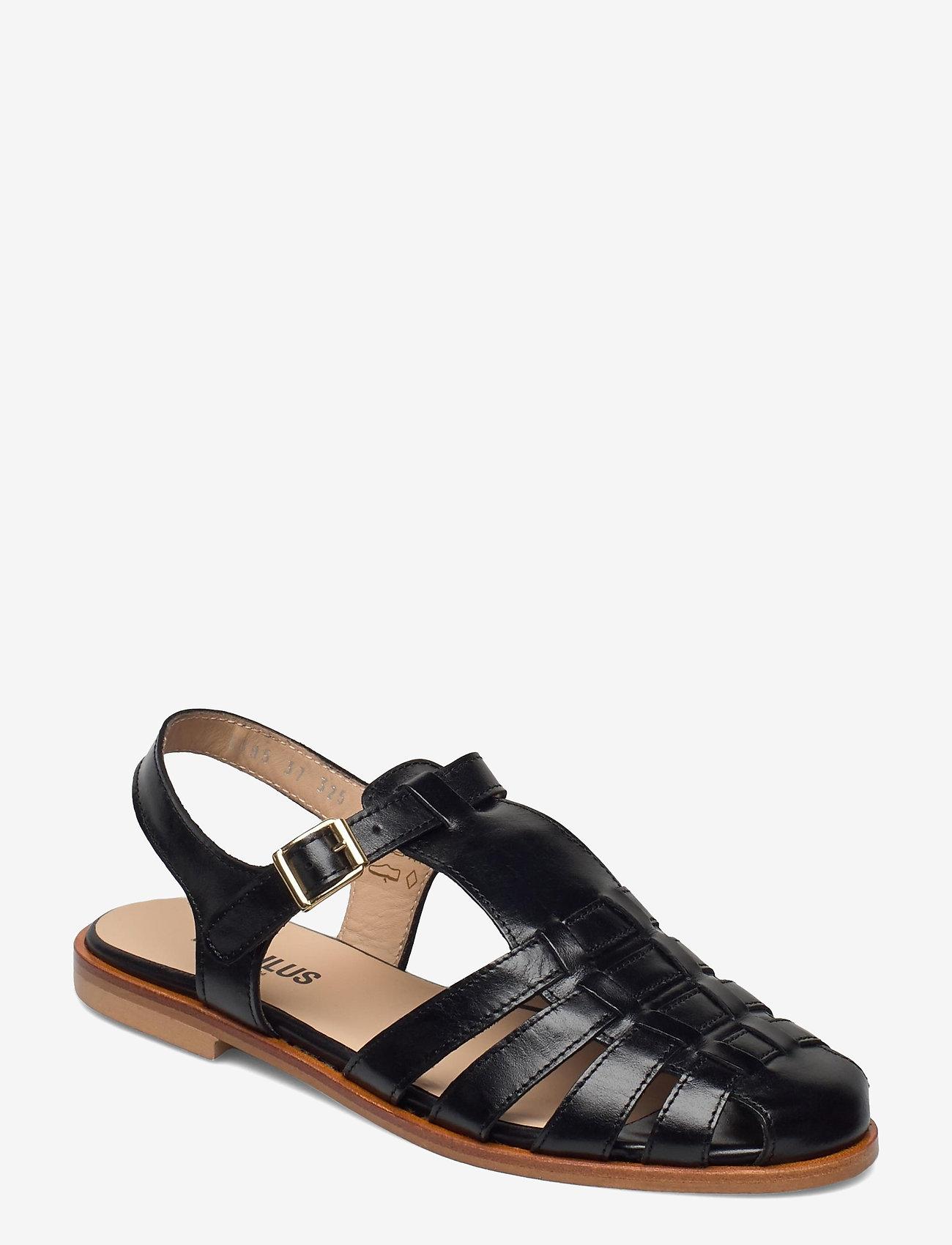 ANGULUS - Sandals - flat - closed toe - op - flache sandalen - 1835 black - 0