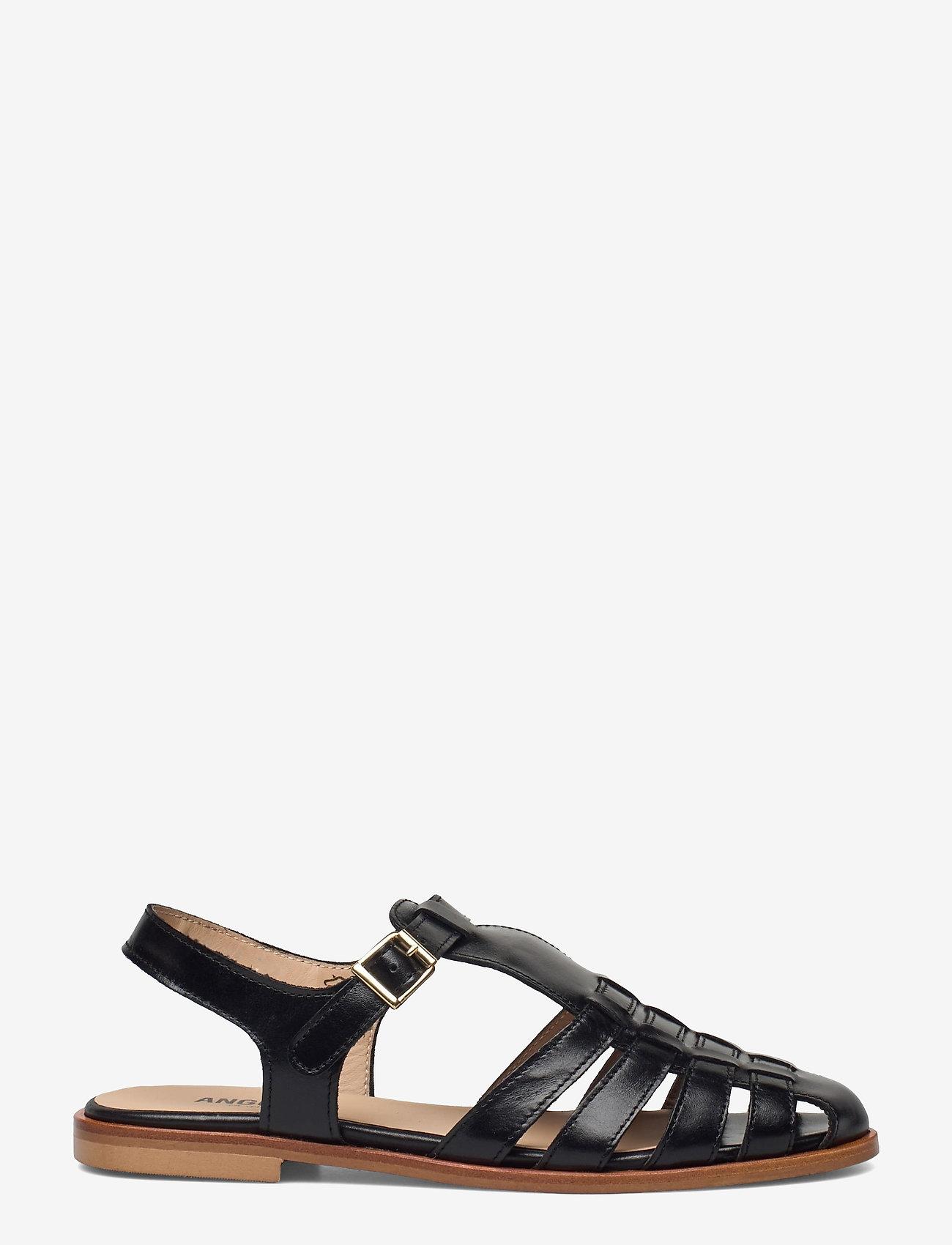 ANGULUS - Sandals - flat - closed toe - op - flache sandalen - 1835 black - 1