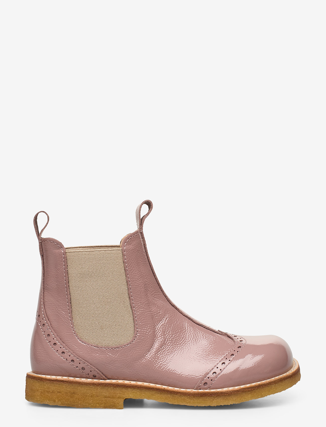 ANGULUS - Booties - flat - with elastic - stövlar & kängor - 1387/010 patent powder/beige - 1