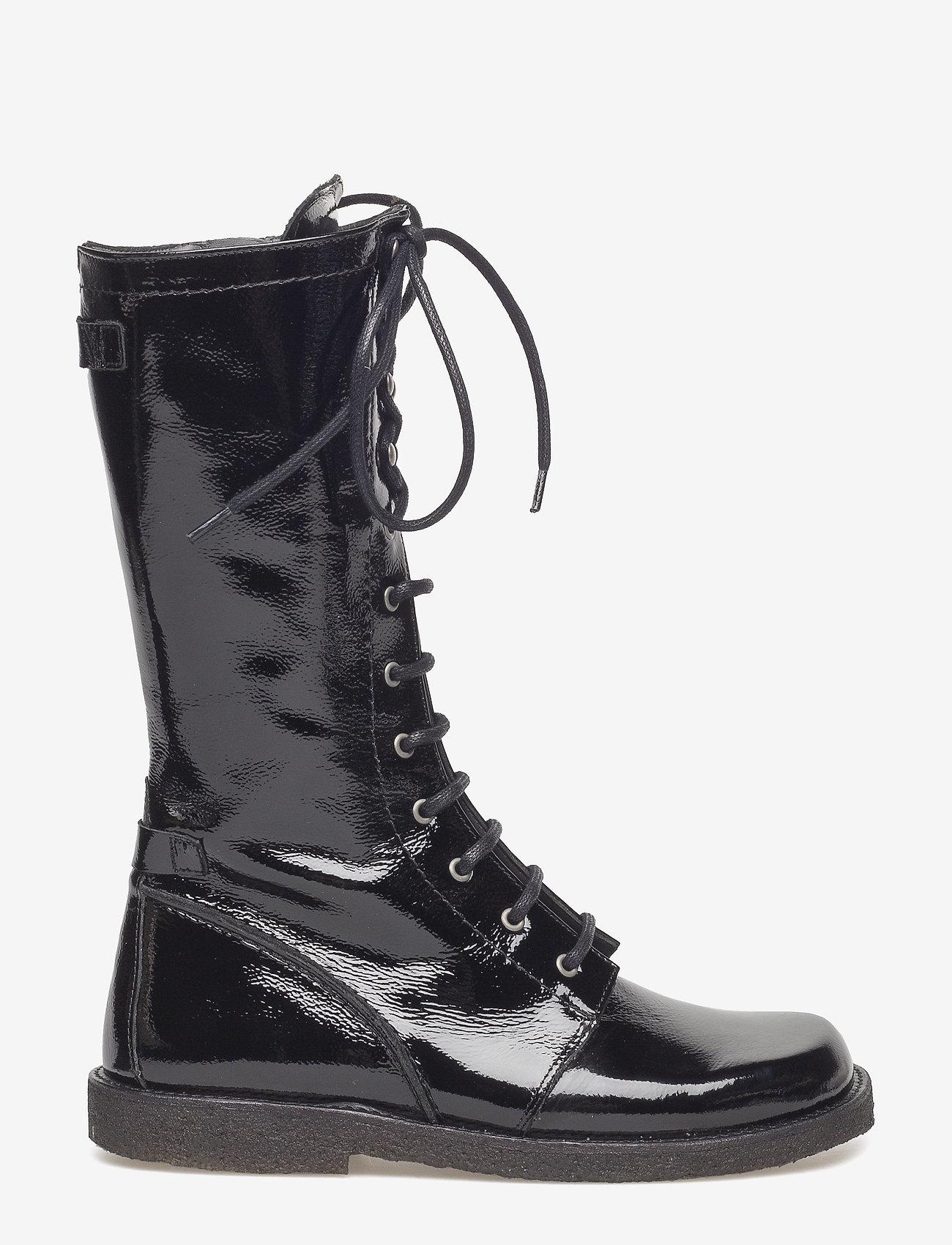 ANGULUS - Long boot with laces. - lange laarzen - 1310 black - 1
