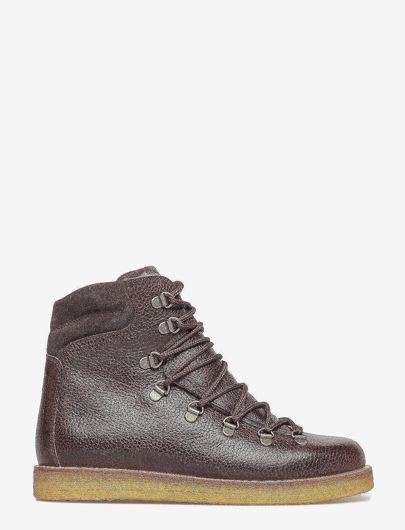 ANGULUS - Boots - flat - with laces - platte enkellaarsjes - 2505/2193 d.brown/d.brown - 1