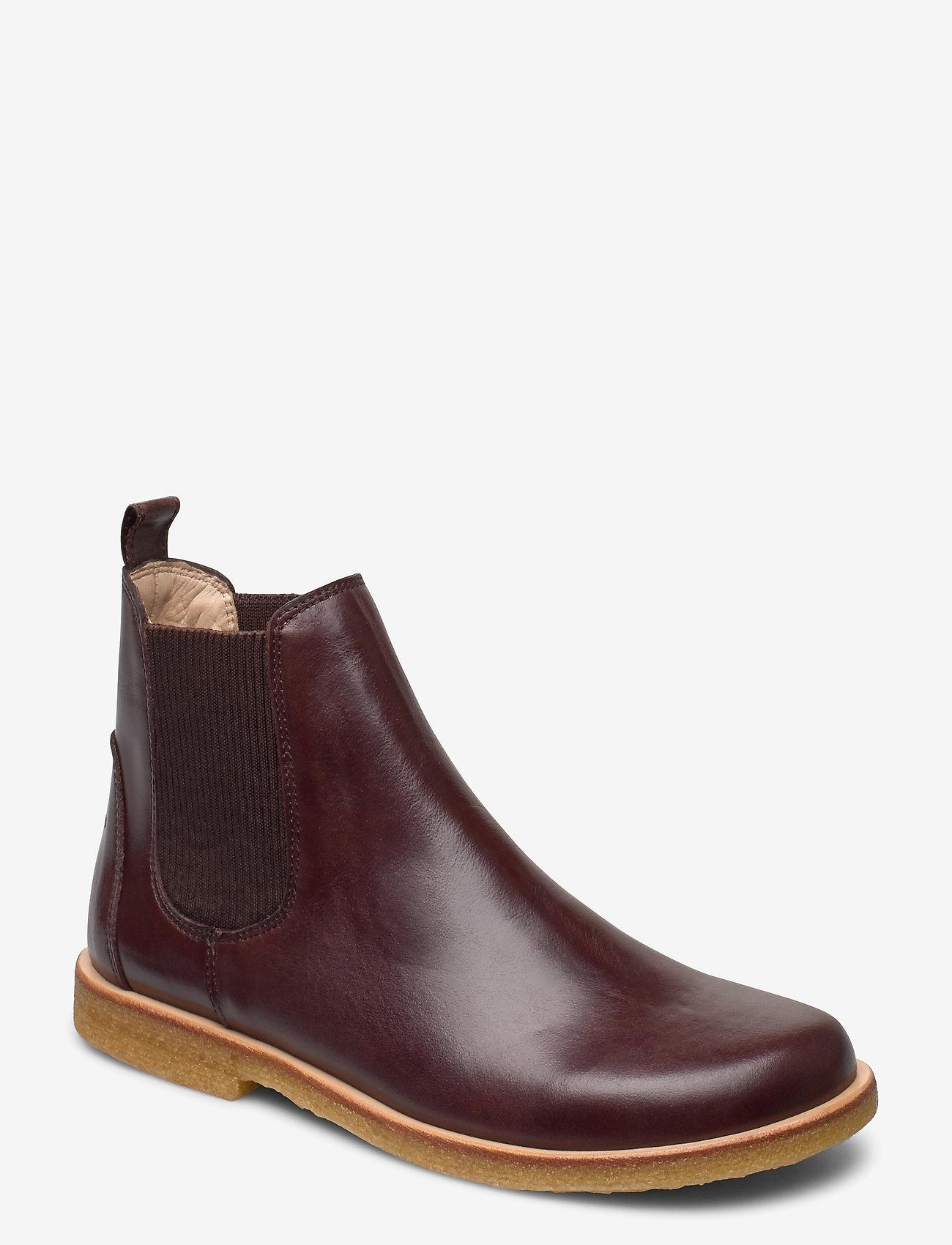 ANGULUS - Booties-flat - with elastic - chelsea boots - 1836/046 dark brown/d. brown - 0