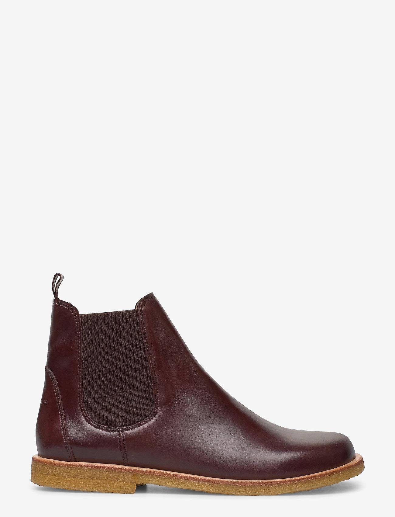 ANGULUS - Booties-flat - with elastic - chelsea boots - 1836/046 dark brown/d. brown - 1