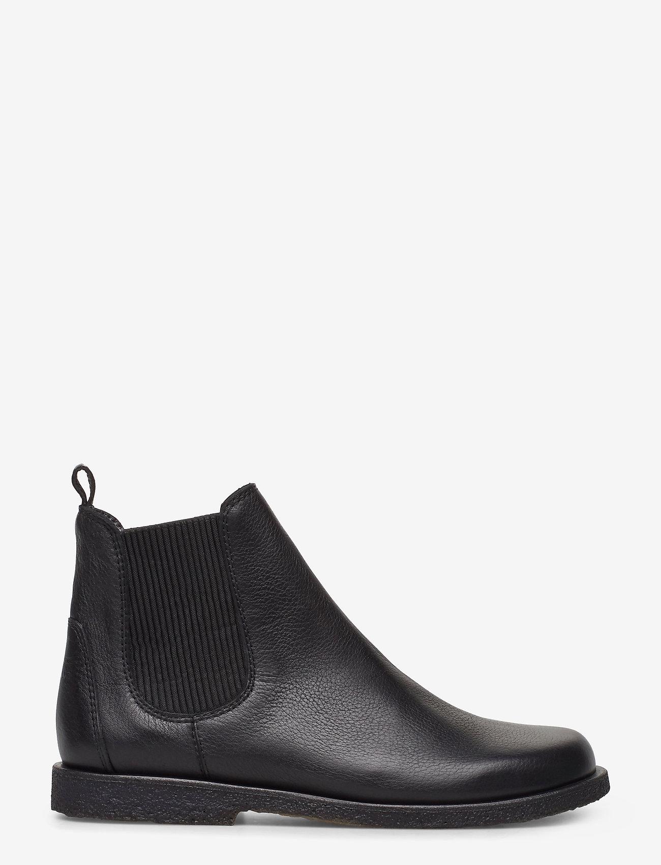 ANGULUS - Booties-flat - with elastic - chelsea støvler - 1933/019 black/black - 1
