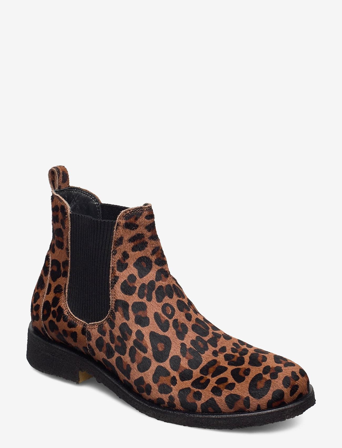 ANGULUS - Chelsea boot - chelsea støvler - 1110/019 leopard/elastic - 0