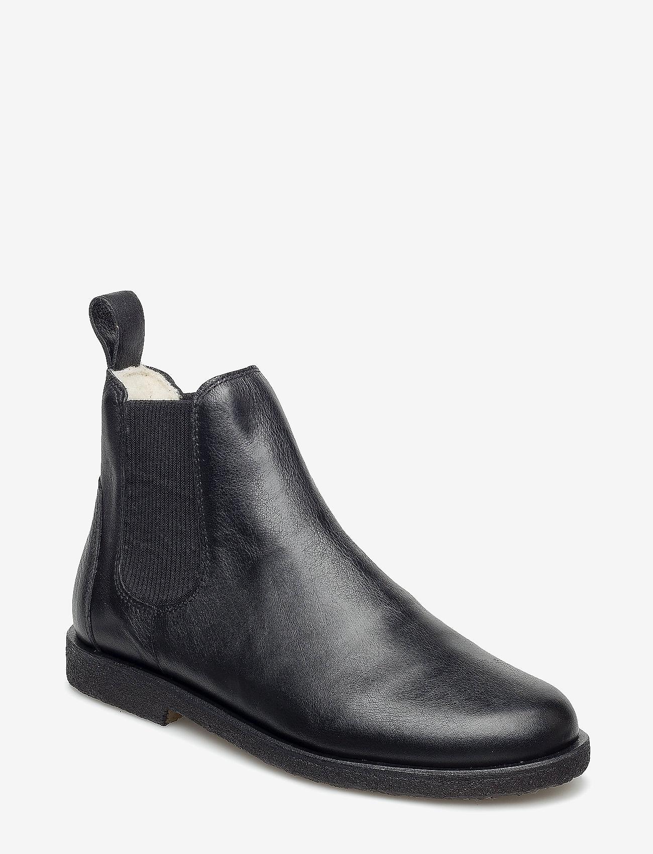 ANGULUS - Chelsea boot - lage hakken - 1933/019 black/black