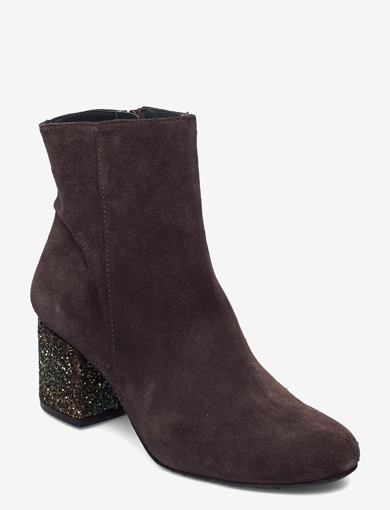 ANGULUS - Bootie - block heel - with zippe - stiefeletten mit absatz - 2193/2487 brown/copper glit - 0