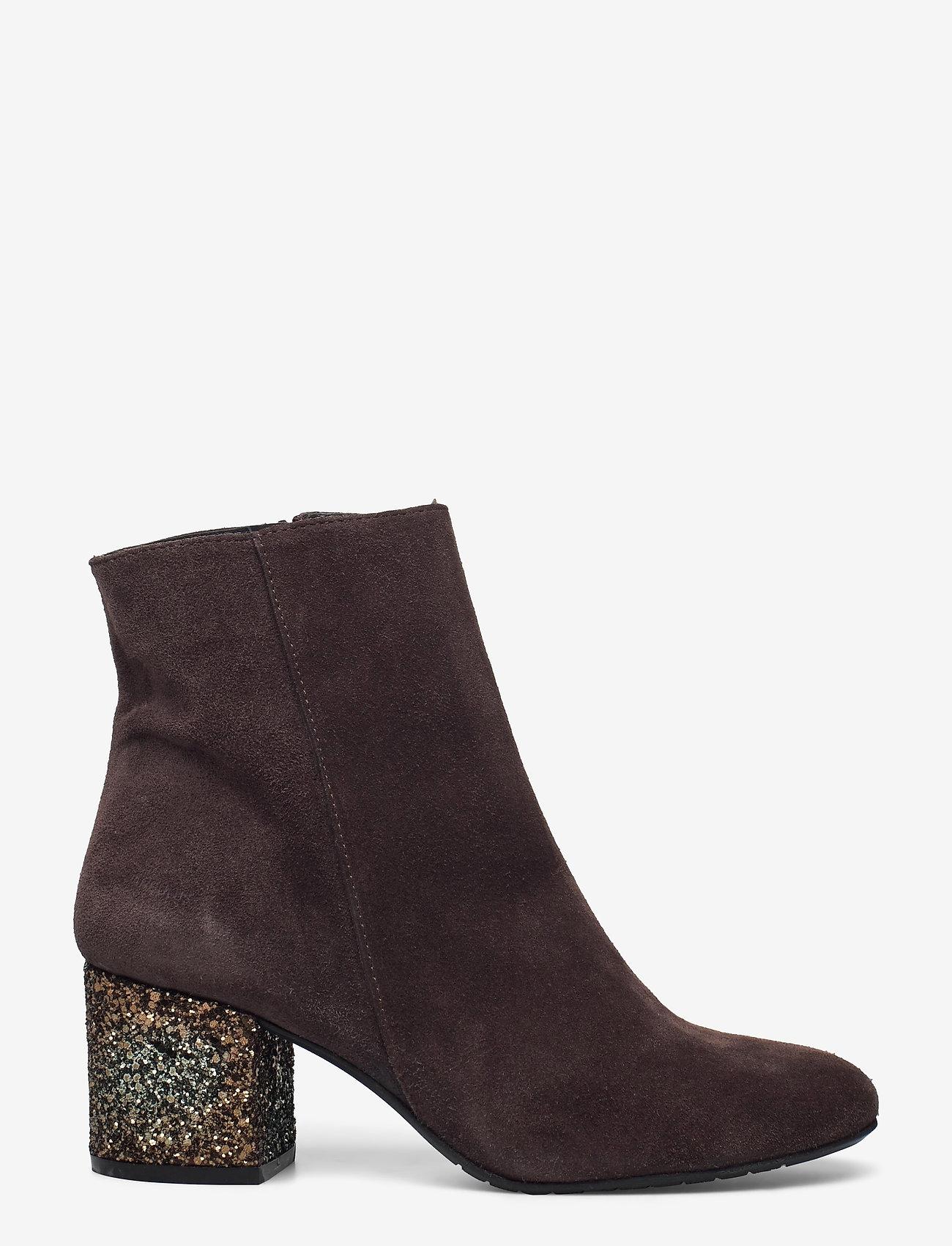 ANGULUS - Bootie - block heel - with zippe - stiefeletten mit absatz - 2193/2487 brown/copper glit - 1