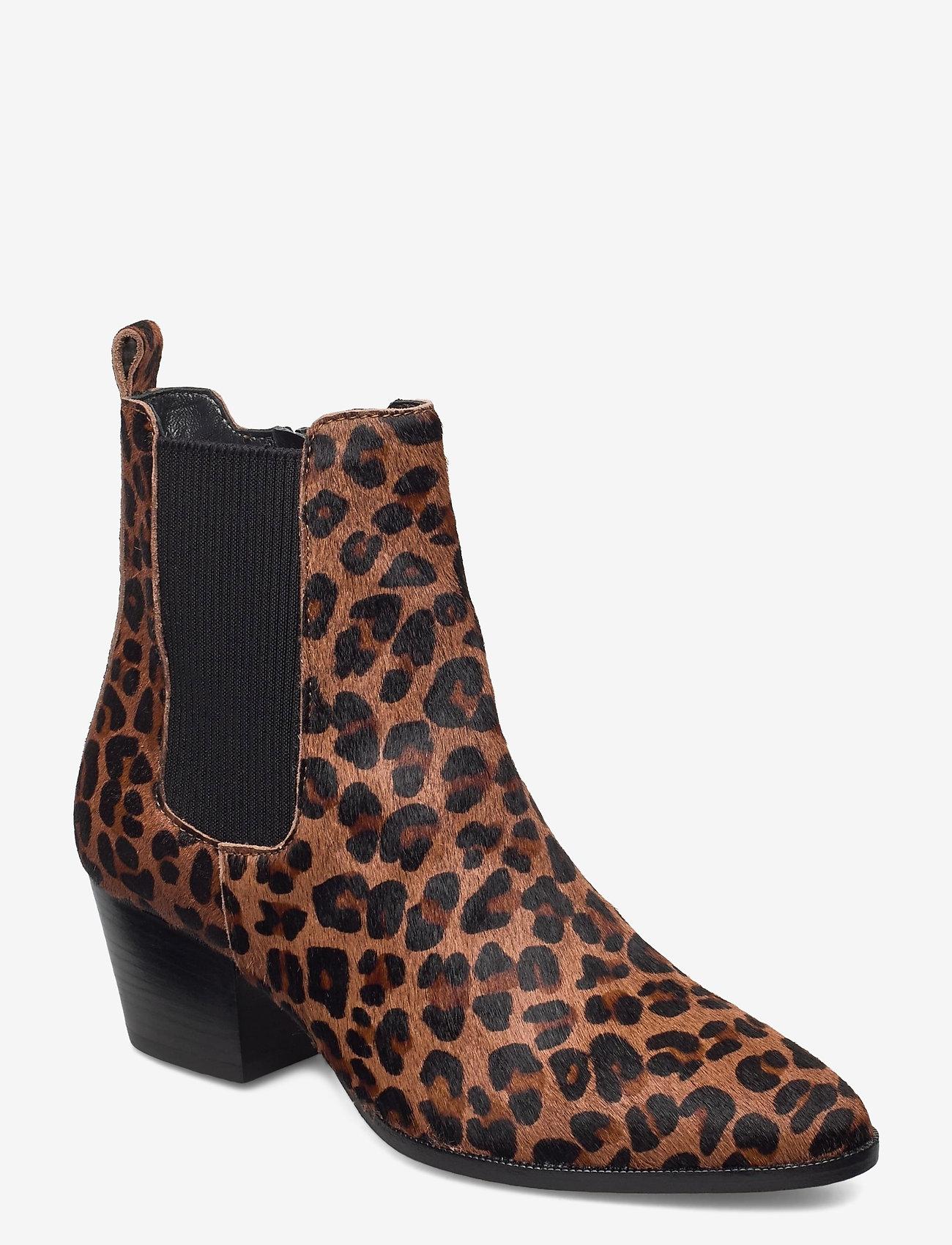 ANGULUS - Booties - Block heel - with elas - stiefeletten mit absatz - 1110/019 leopard/elastic - 1