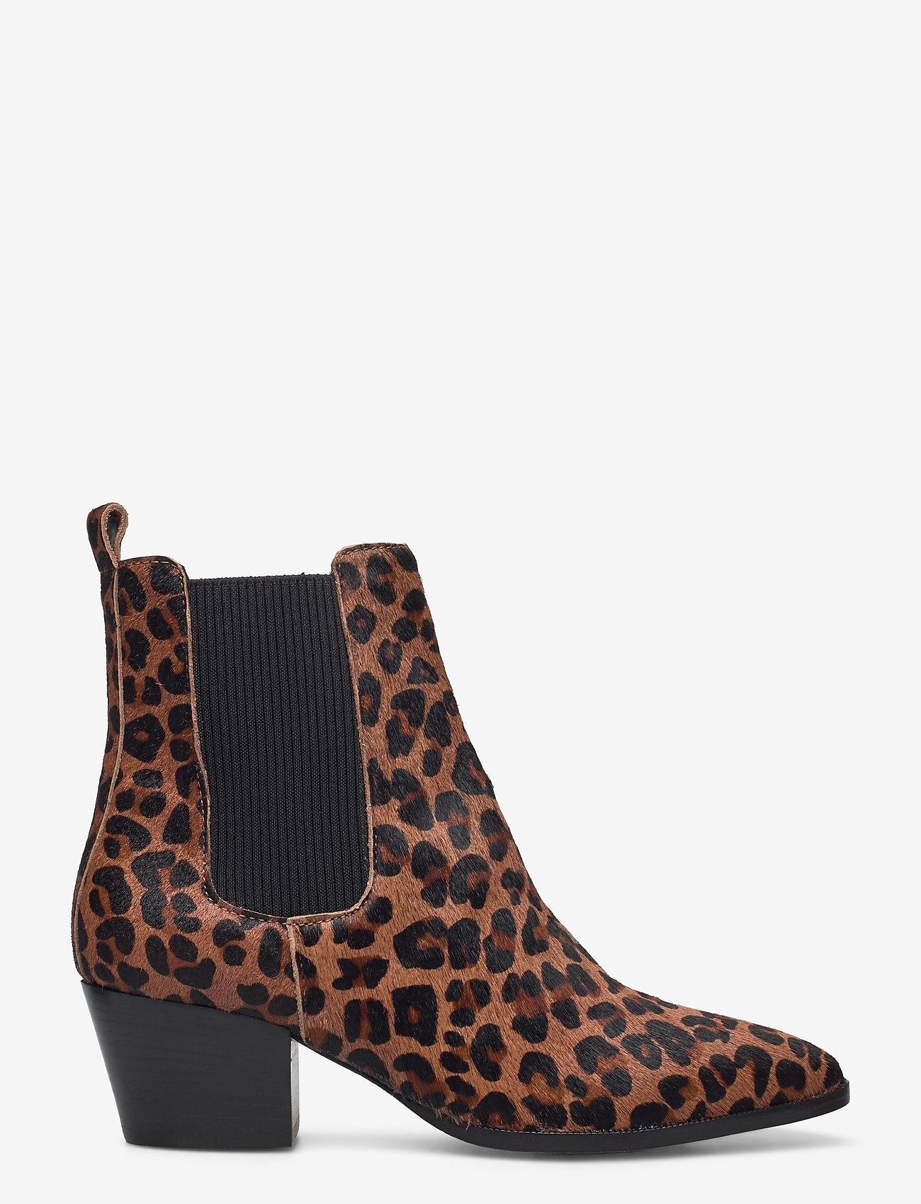 ANGULUS - Booties - Block heel - with elas - ankelstøvler med hæl - 1110/019 leopard/elastic - 1