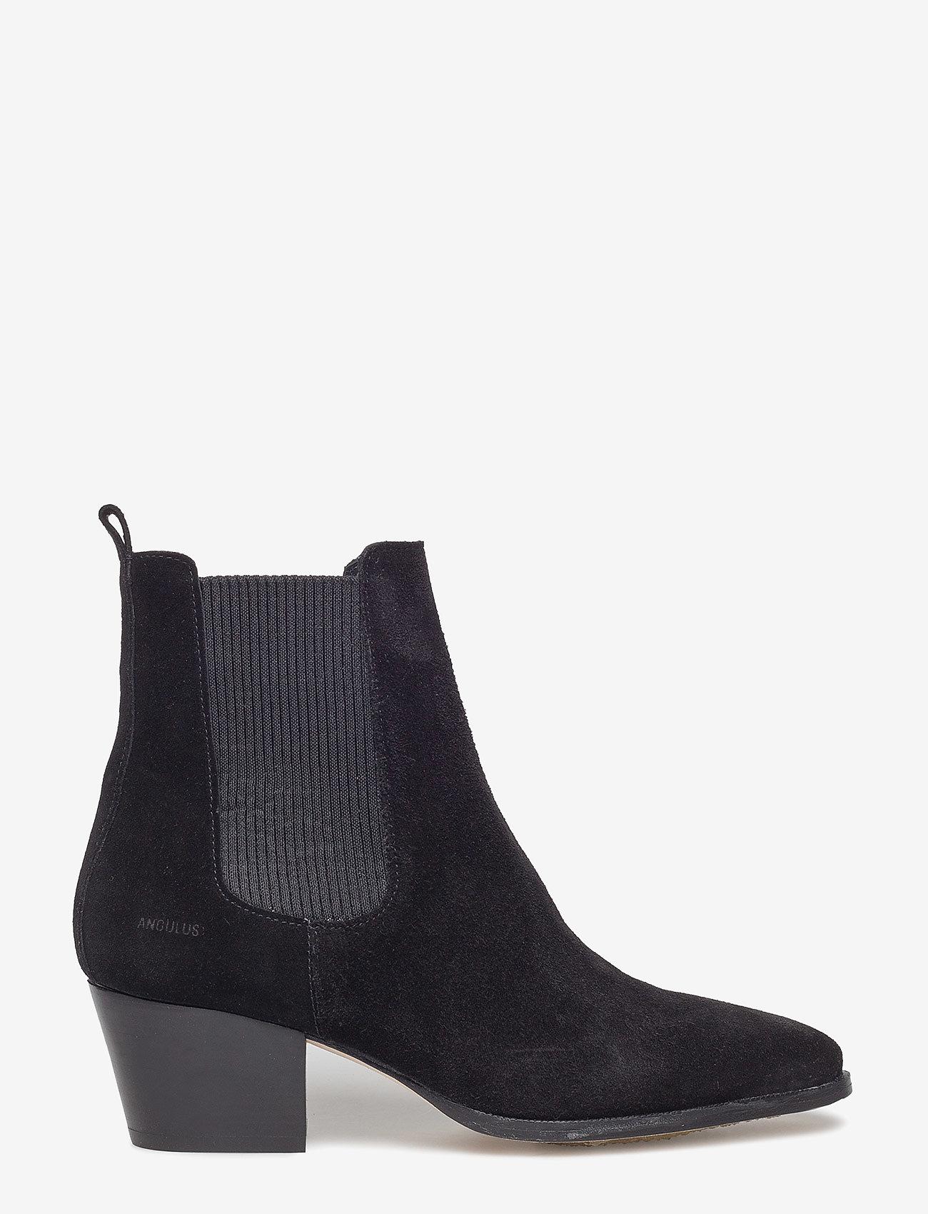 ANGULUS - Booties - Block heel - with elas - stiefeletten mit absatz - 1163/019 black/black - 1