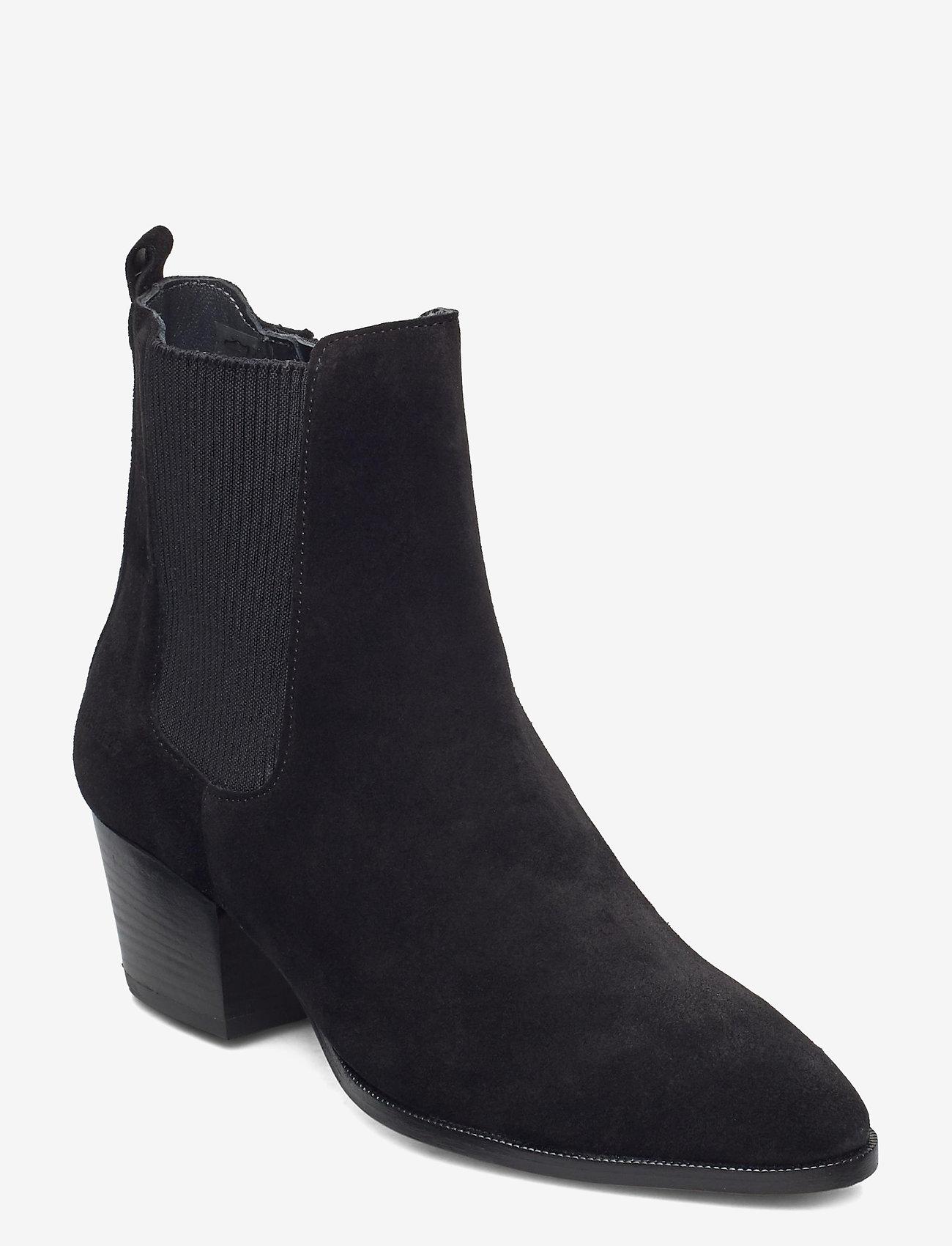 ANGULUS - Booties - Block heel - with elas - stiefeletten mit absatz - 1163/019 black/black - 0