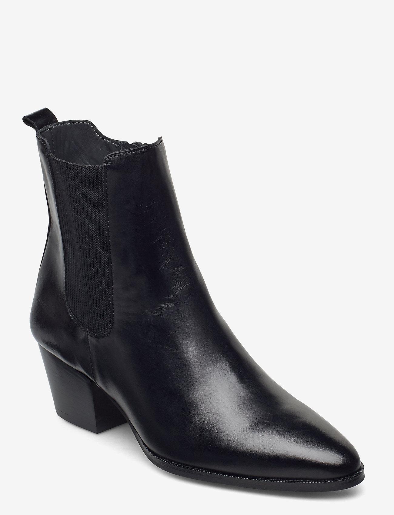 ANGULUS - Booties - Block heel - with elas - ankelstøvler med hæl - 1835/019 sort/sort - 0