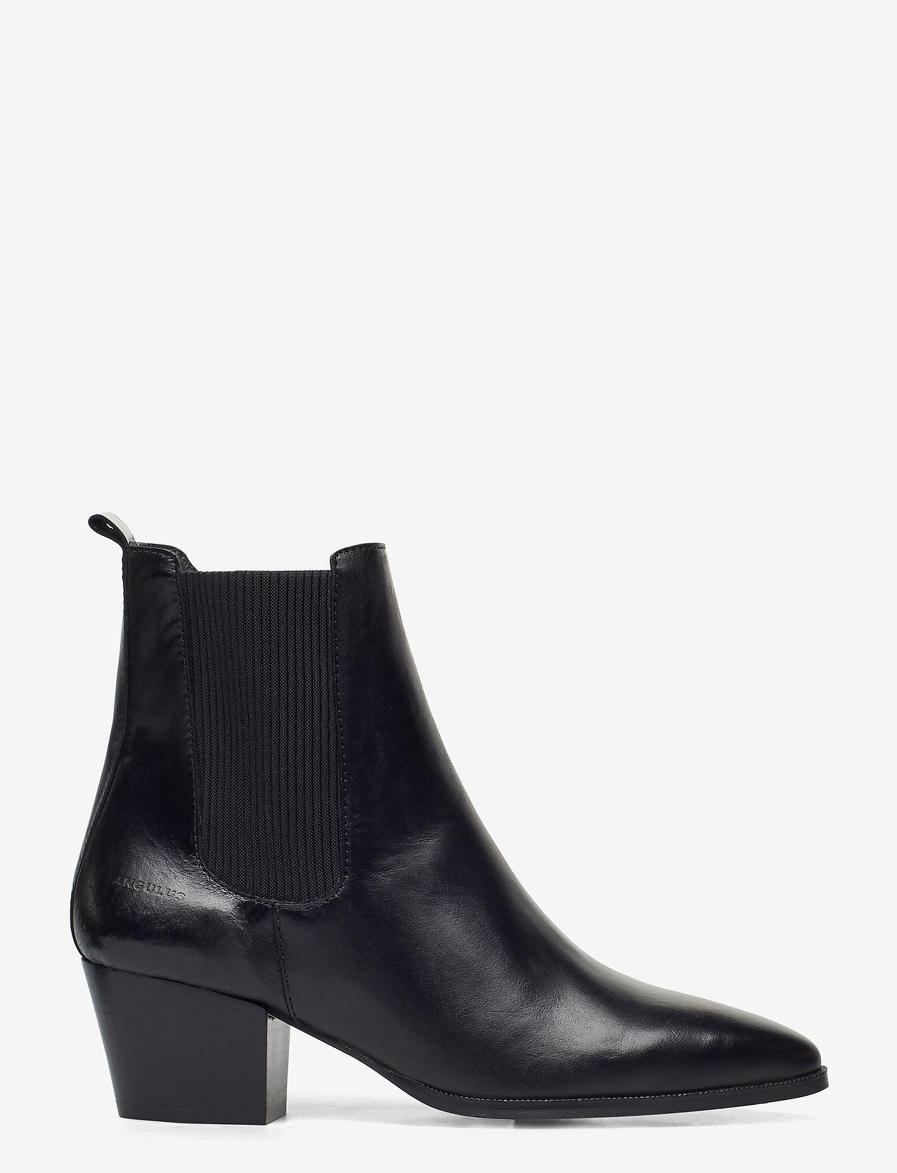 ANGULUS - Booties - Block heel - with elas - ankelstøvler med hæl - 1835/019 sort/sort - 1