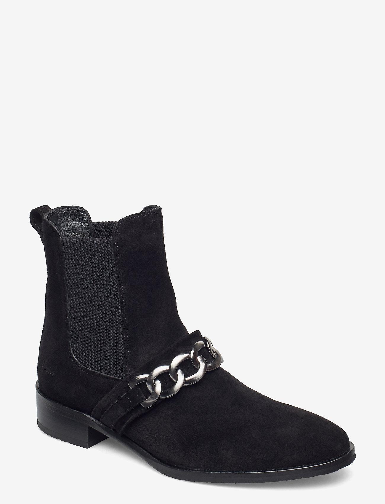 ANGULUS - Booties - flat - with elastic - platte enkellaarsjes - 1163/019 black/black - 0
