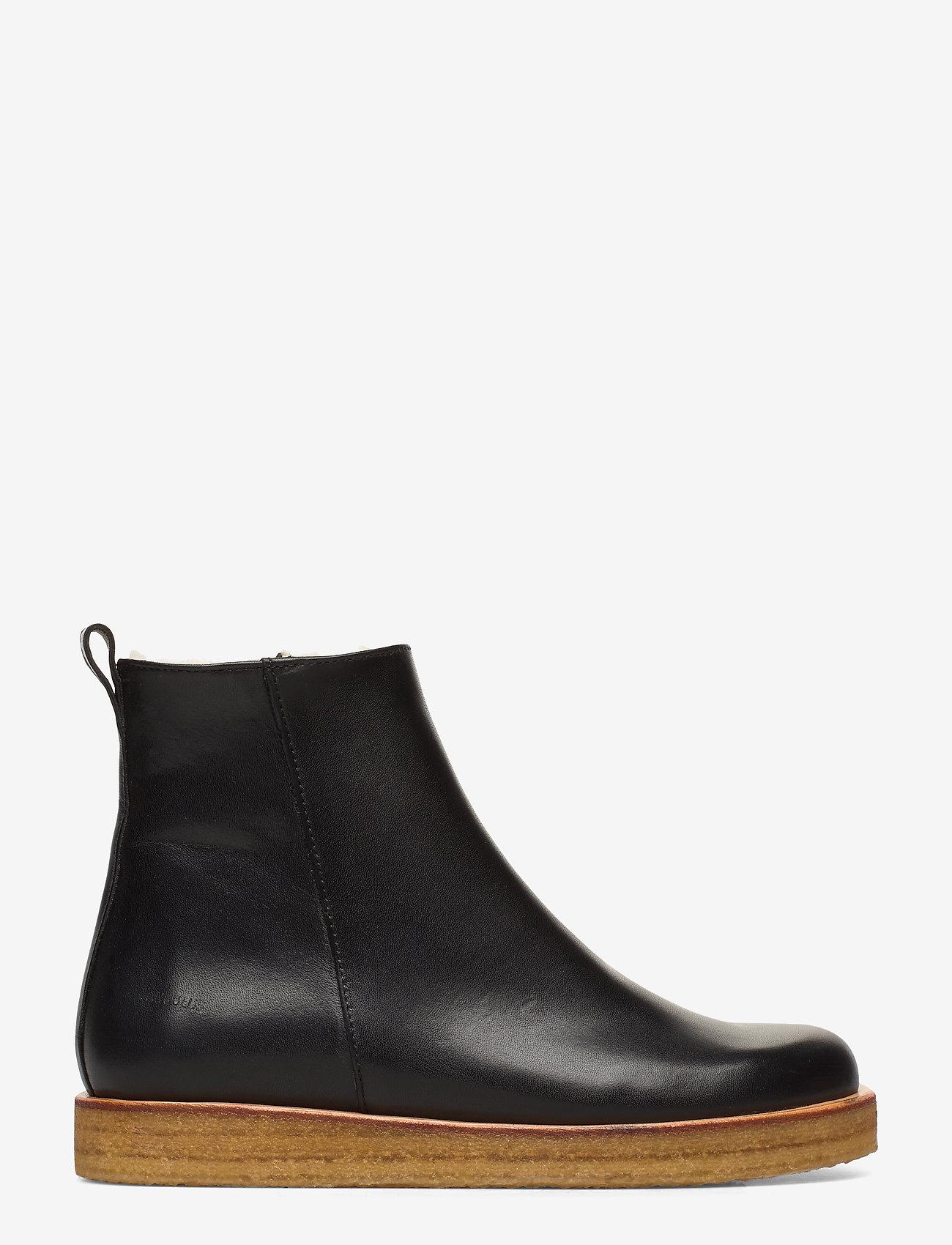 ANGULUS - Boots - flat - with zipper - flache stiefeletten - 1604 black - 1