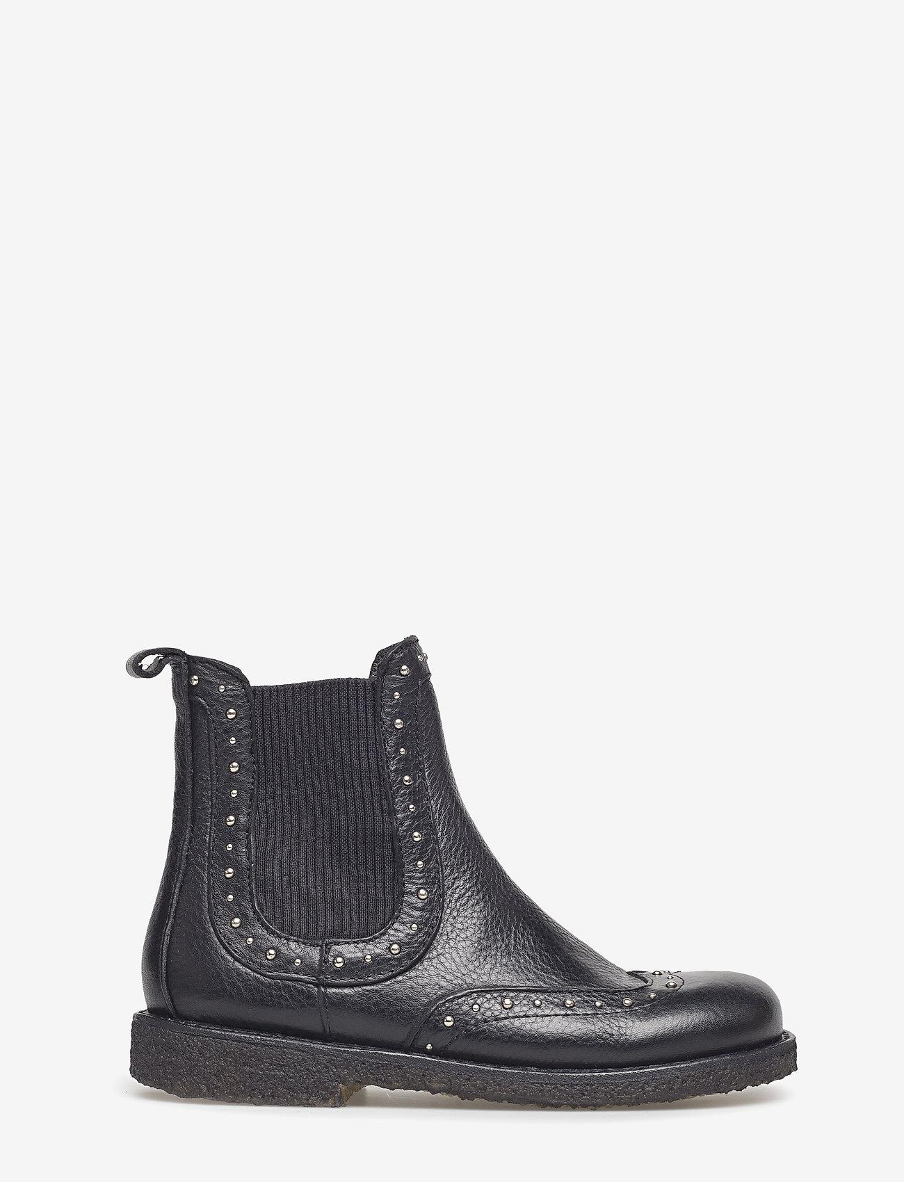 ANGULUS - Booties - flat - with elastic - stiefel - 1933/019 black/black - 1