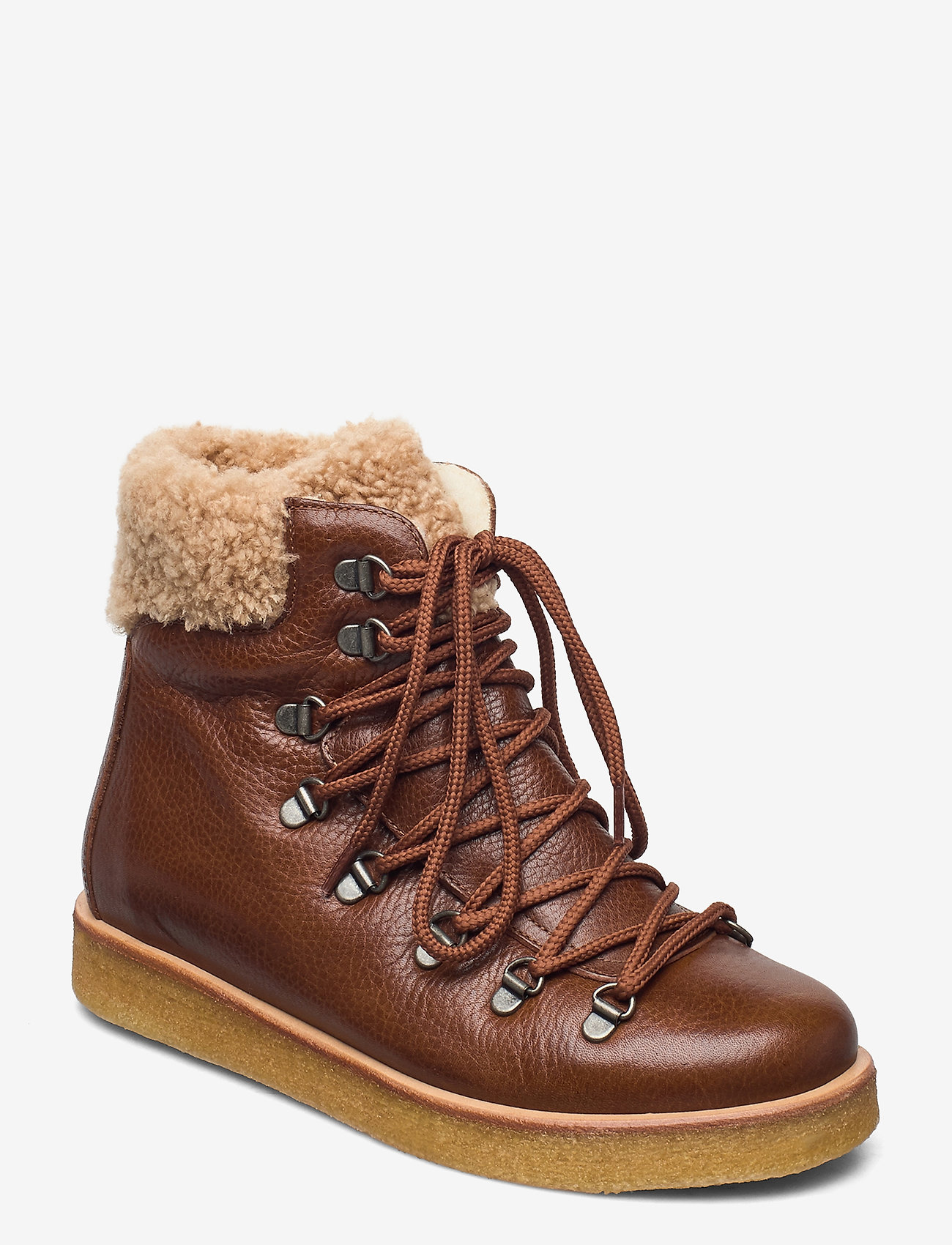 ANGULUS - Boots - flat - with laces - flade ankelstøvler - 2509/2030 cognac/light brown - 0