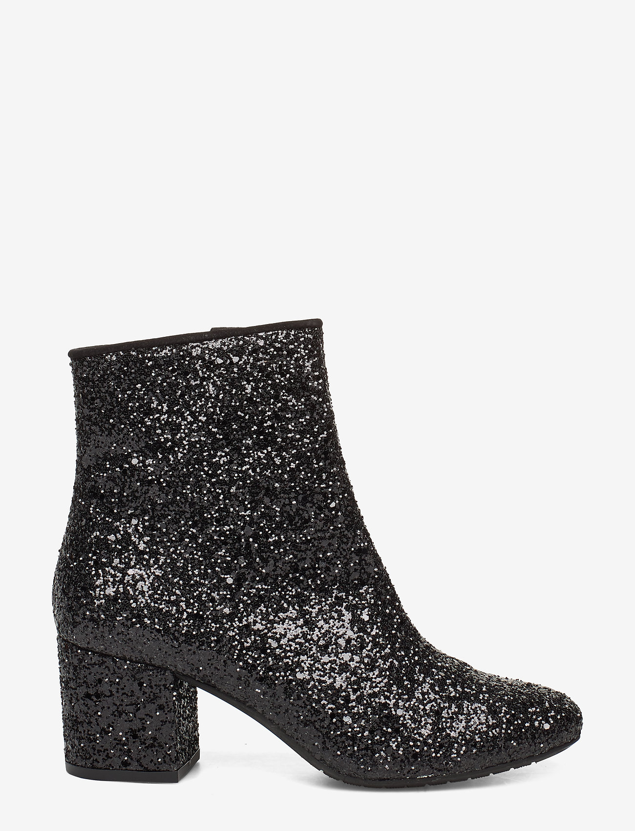 ANGULUS - Bootie - block heel - with zippe - heeled ankle boots - 2486/1163 black glit/black - 1