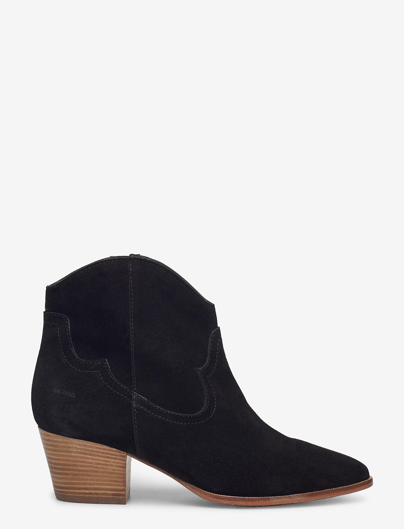 ANGULUS - Booties - Block heel - with elas - stiefeletten mit absatz - 1163 black - 1
