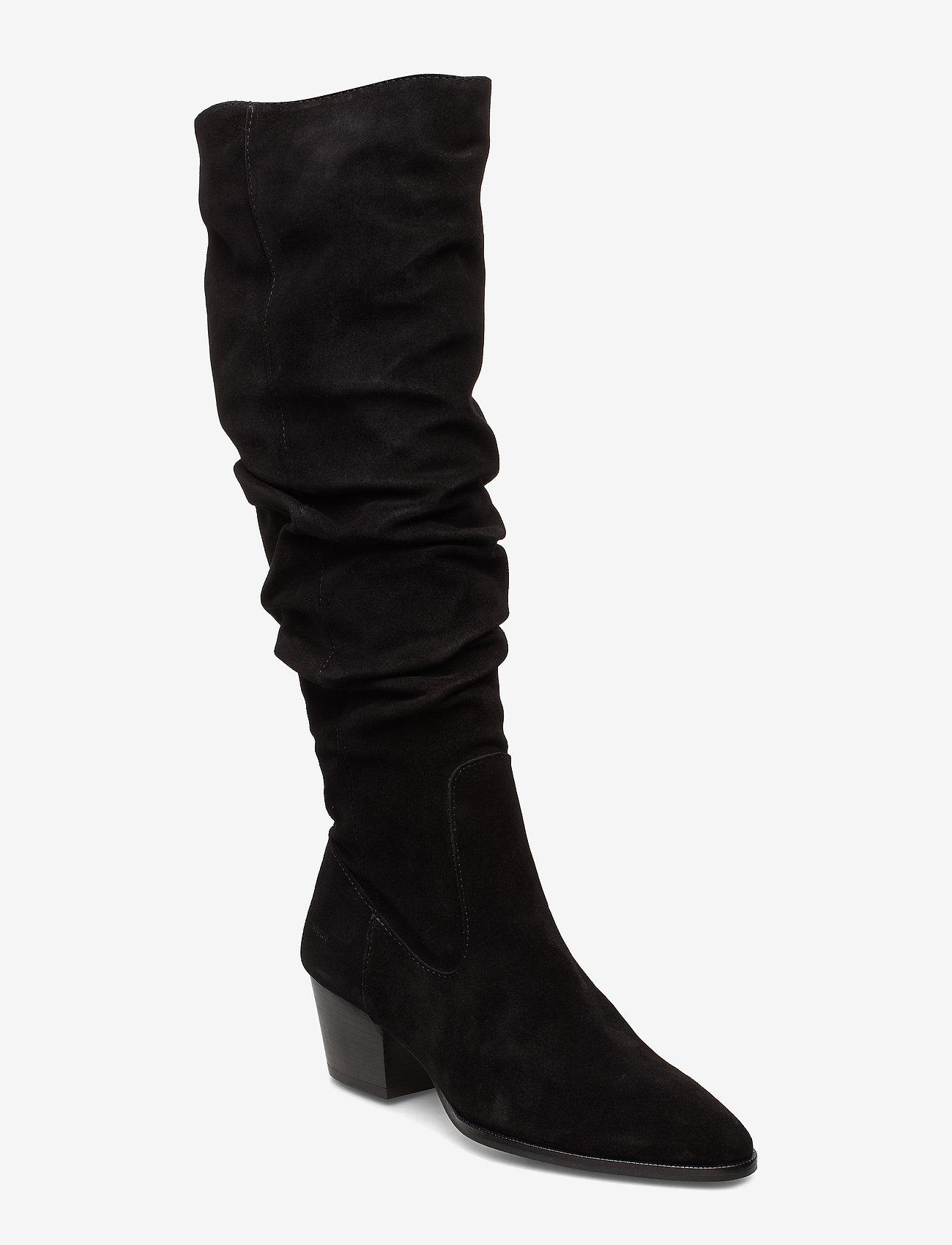 ANGULUS - Bootie - block heel - with zippe - bottes hautes - 1163 black - 0