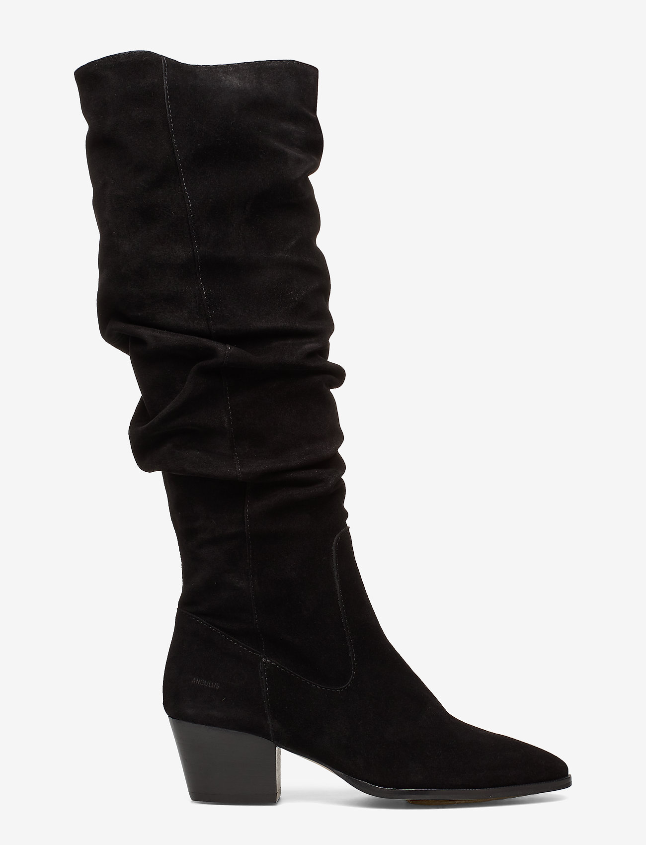 ANGULUS - Bootie - block heel - with zippe - bottes hautes - 1163 black - 1