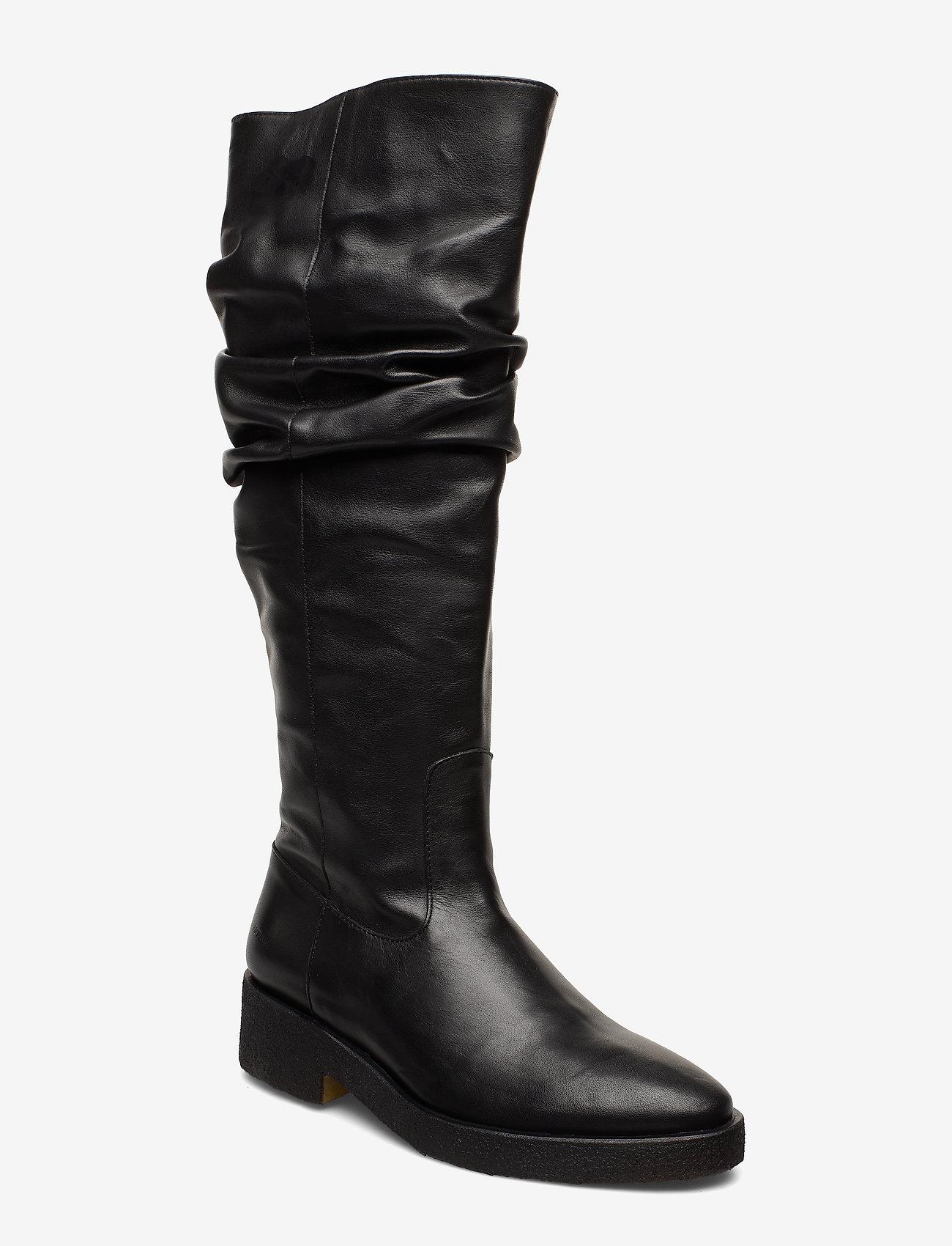 ANGULUS - Booties - flat - with zipper - bottes hautes - 1604 black - 0