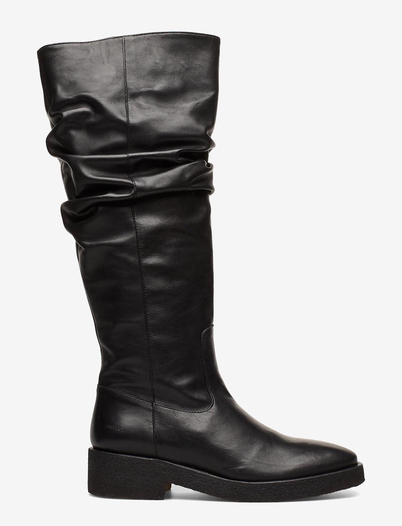ANGULUS - Booties - flat - with zipper - bottes hautes - 1604 black - 1