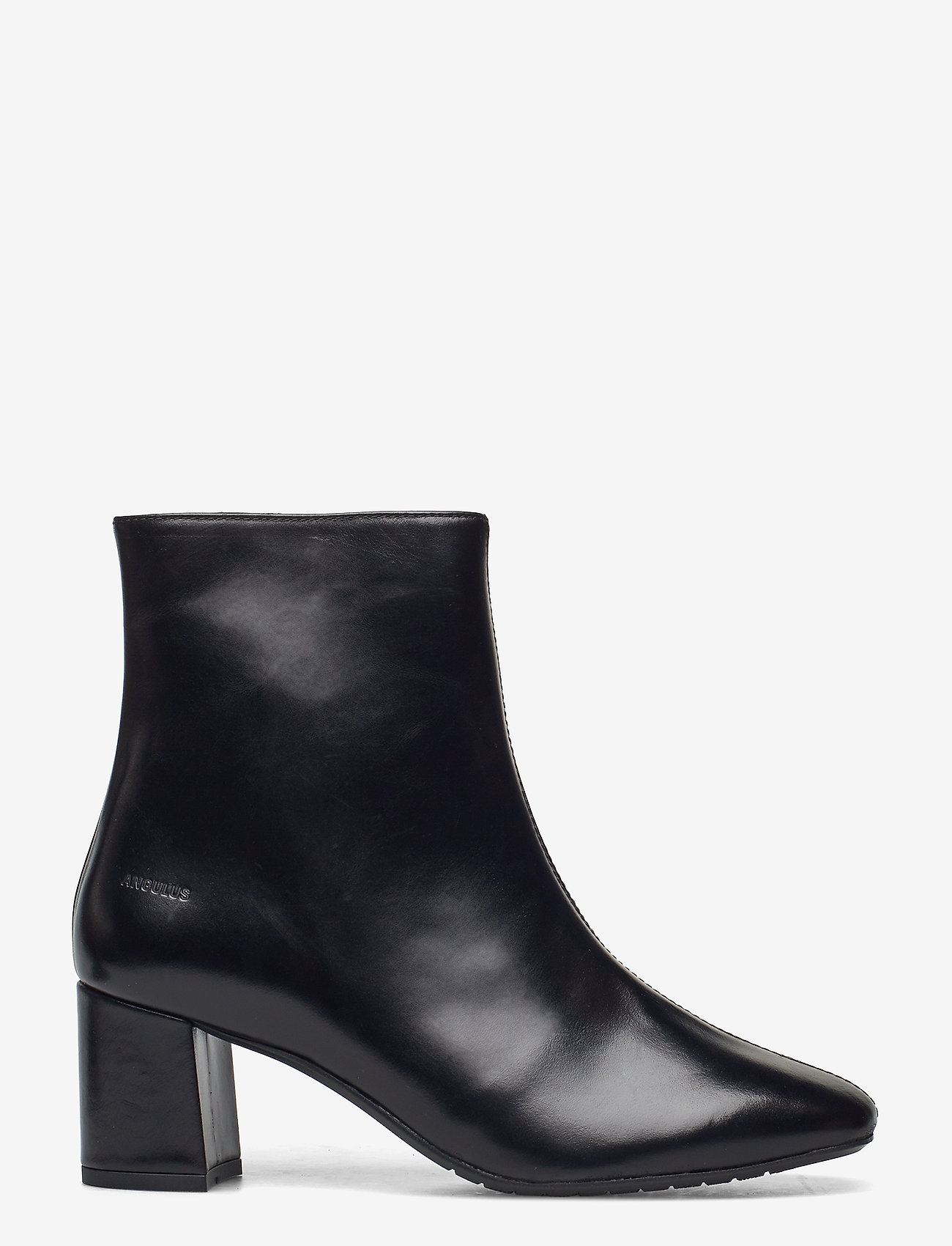 ANGULUS - Bootie - block heel - with zippe - stiefeletten mit absatz - 1835 black - 1