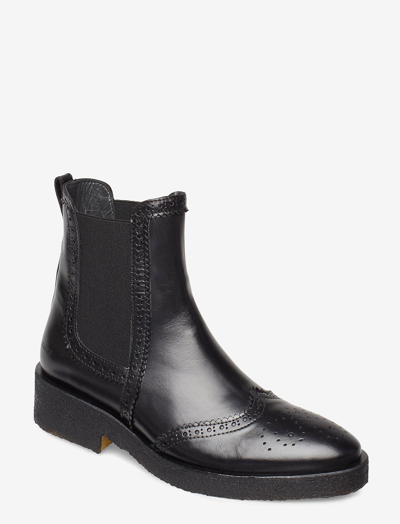 ANGULUS - Booties - flat - with elastic - chelsea støvler - 1835/001 black/black - 0