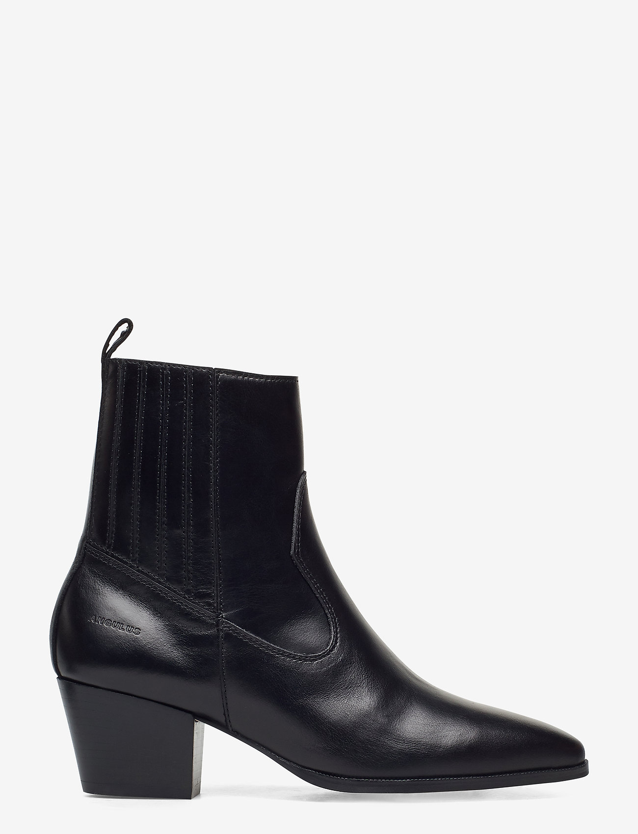 ANGULUS - Booties - Block heel - with elas - stiefeletten mit absatz - 1835/001 black/black - 1
