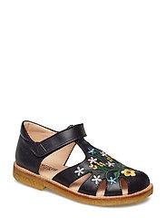 Sandals - flat - 1466 BLACK