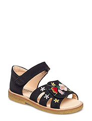Sandals - flat - open toe - clo - 1163 BLACK
