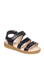Sandals - flat - open toe - op - 1310/1604 BLACK