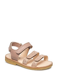 Sandals - flat - open toe - op - 2181/1433 ROSE GLITTER/MAKE-UP