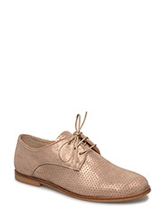 Shoes - flat - with lace - 2181 COPPER GLITTER