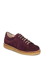Shoes - flat - with lace - 2195 BORDEAUX