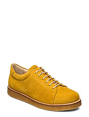 Shoes - flat - with lace - 2201 YELLOW