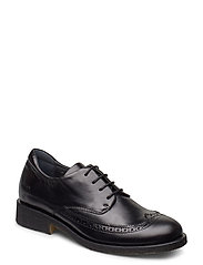 Shoes - flat - with lace - 1835 BLACK