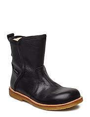 Boots - flat - with zipper - 2504/1652 BLACK/BLACK