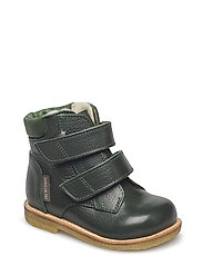 Boots - flat - with velcro - 2558/1585 D.GREEN/GREEN
