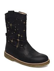 Boots - flat - 1652/2174 BLACK/ BLACK W. GOLD