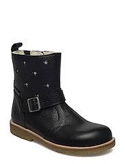 Boots - flat - with zipper - 2504/1325/1604/001 BLACK/CHAMP