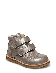 Boots - flat - with velcro - 1537 LIGHT COPPER