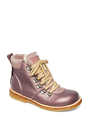 Boots - flat - with lace and zip - 1509/2202/1524 LAVENDER/L./PLU