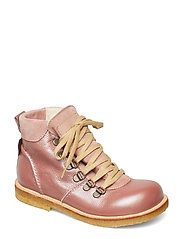 Boots - flat - with lace and zip - 2636/2194/1433 ROSA/PUDDER/MAK
