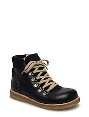 Boots - flat - with lace and zip - 2504/1163/1652 BLACK